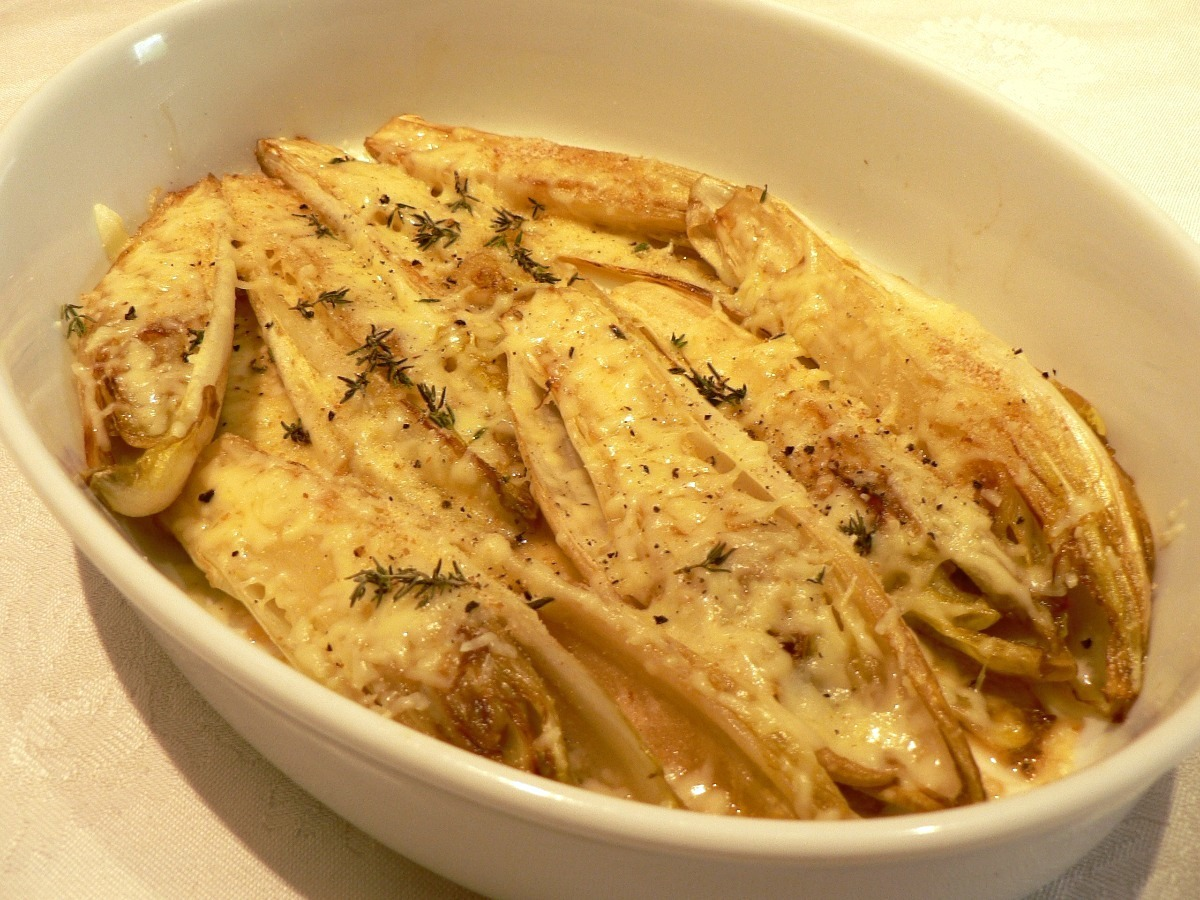 Belgian Endives with Gruyère Cheese Recipe