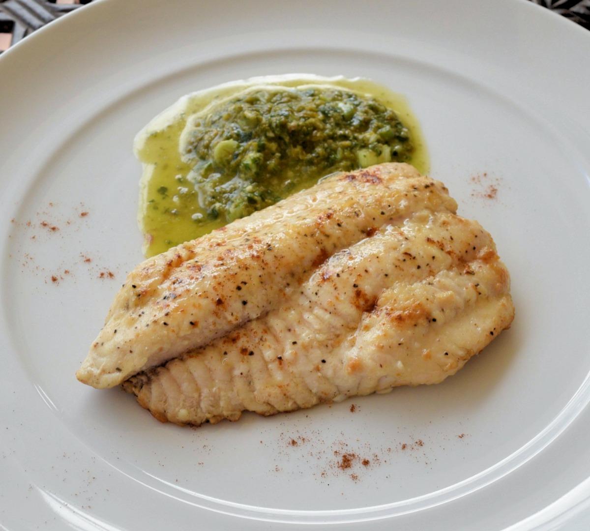 Catfish with Mojo Verde Recipe