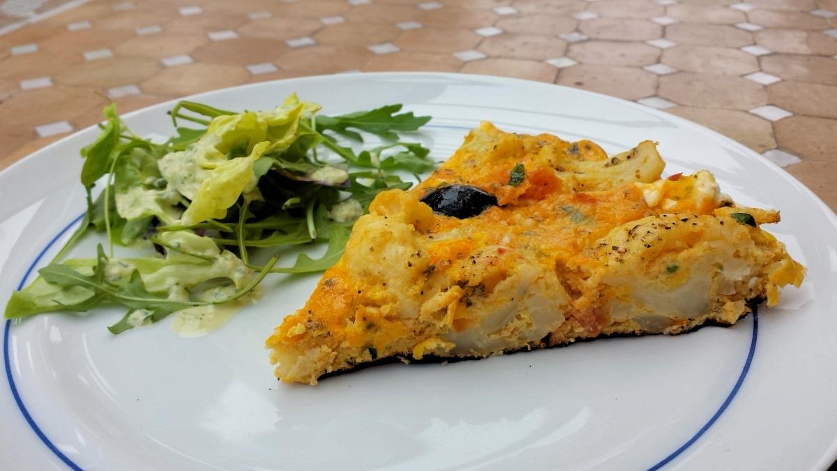 Cauliflower and Feta Frittata Recipe