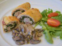 Chicken Involtini with Prosciutto, Spinach and Goat Cheese