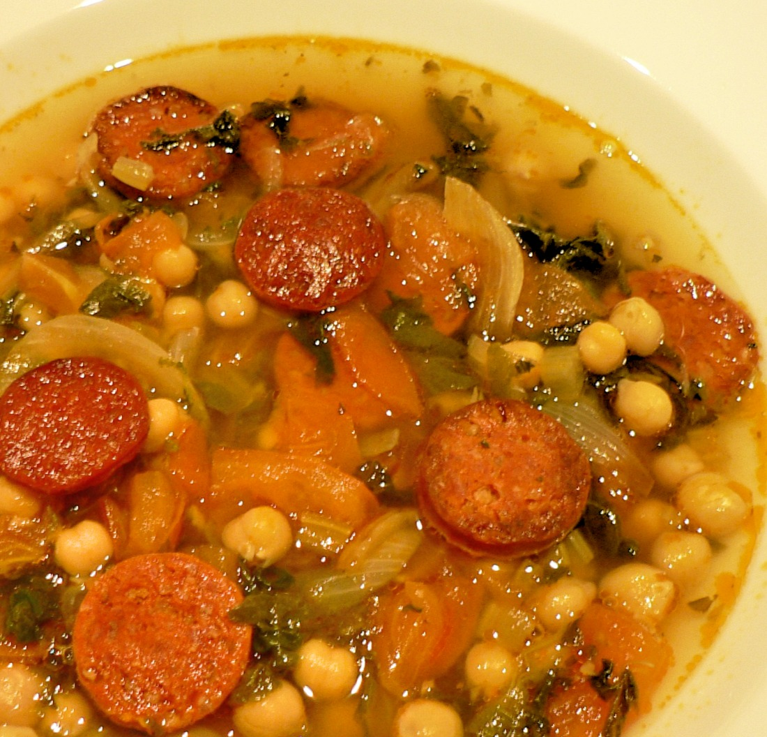 Chickpea Soup with Chorizos Recipe
