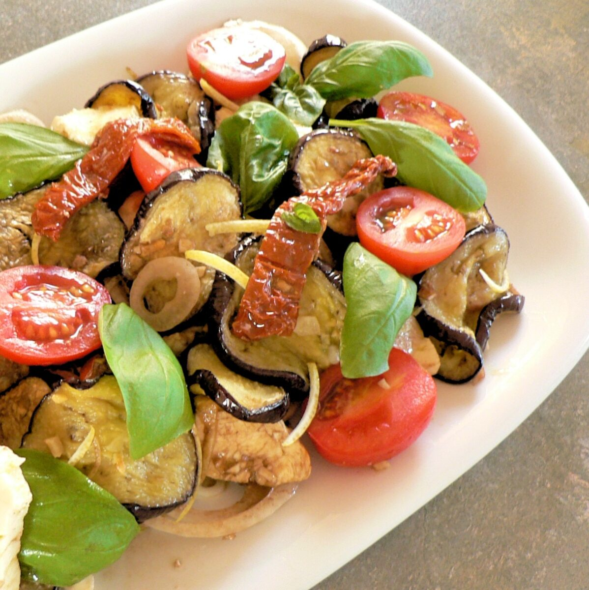 Eggplant and Cherry Tomato Salad Recipe