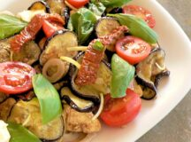 Eggplant and Cherry Tomato Salad