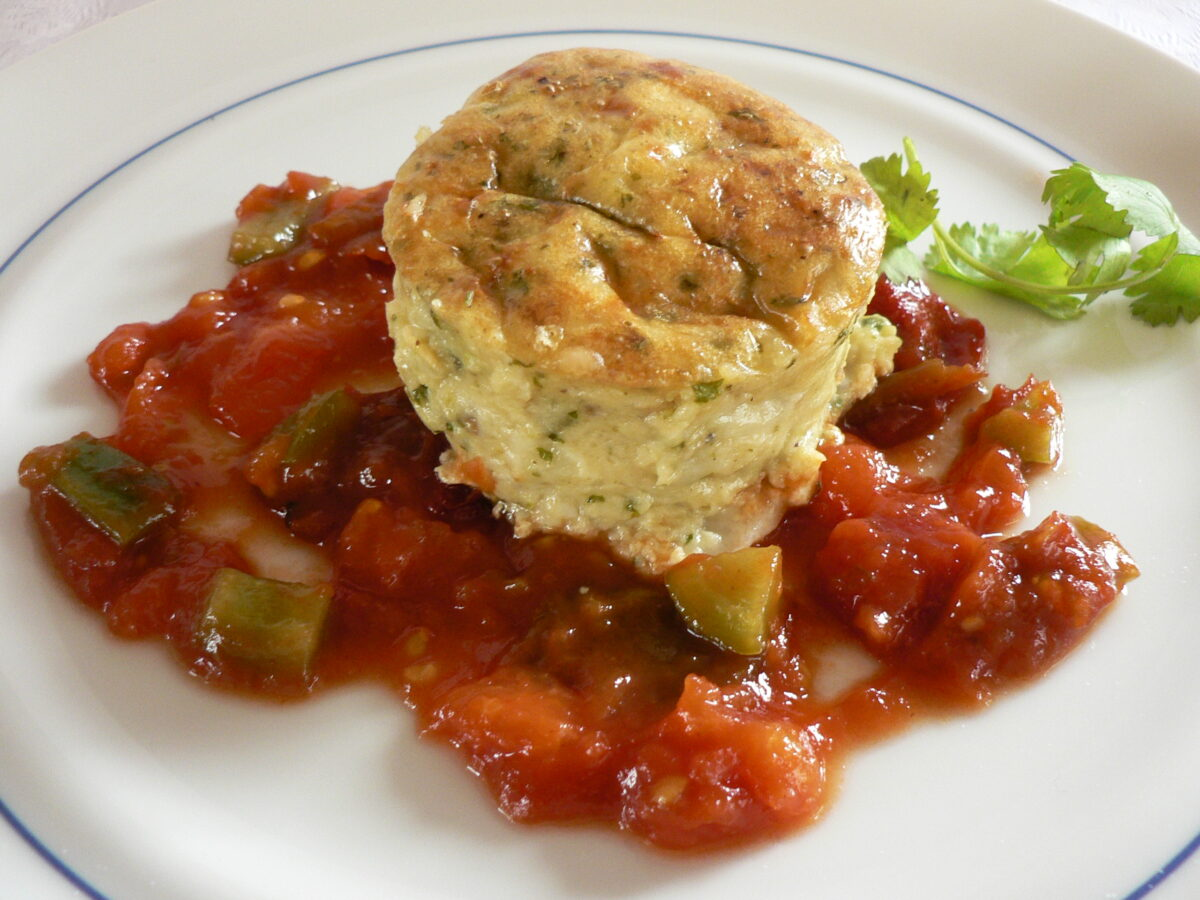 Goat Cheese Soufflé with Sofrito Recipe