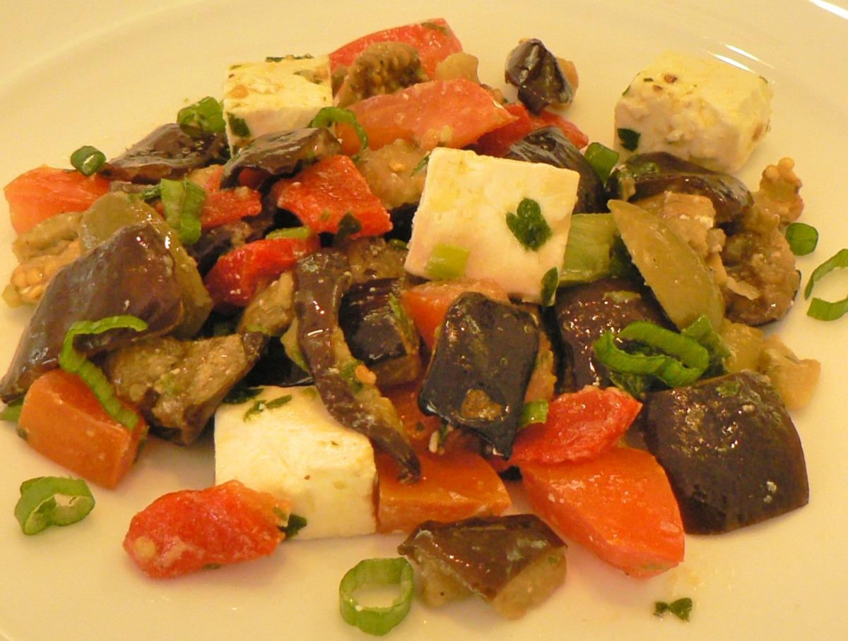 Greek Eggplant Salad Recipe