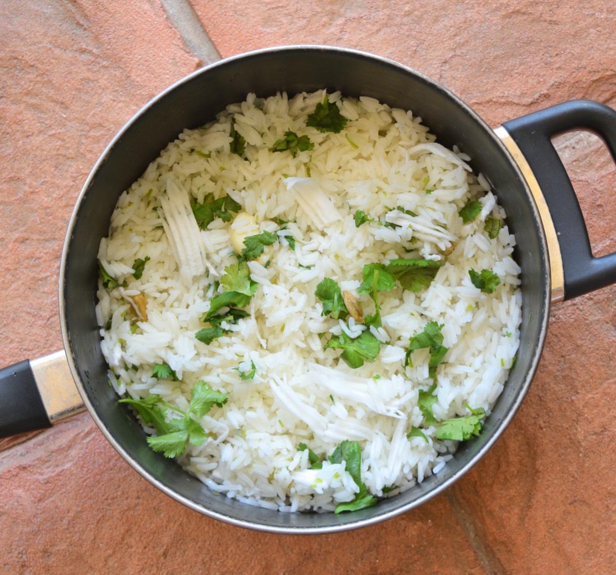Jasmine Rice with Shredded Coconut and Cilantro Recipe