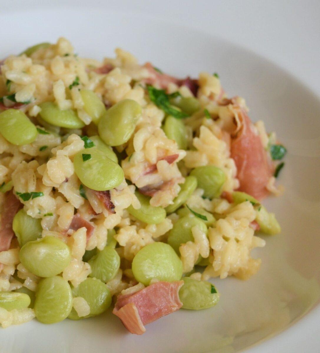 Lima Bean and Prosciutto Risotto Recipe