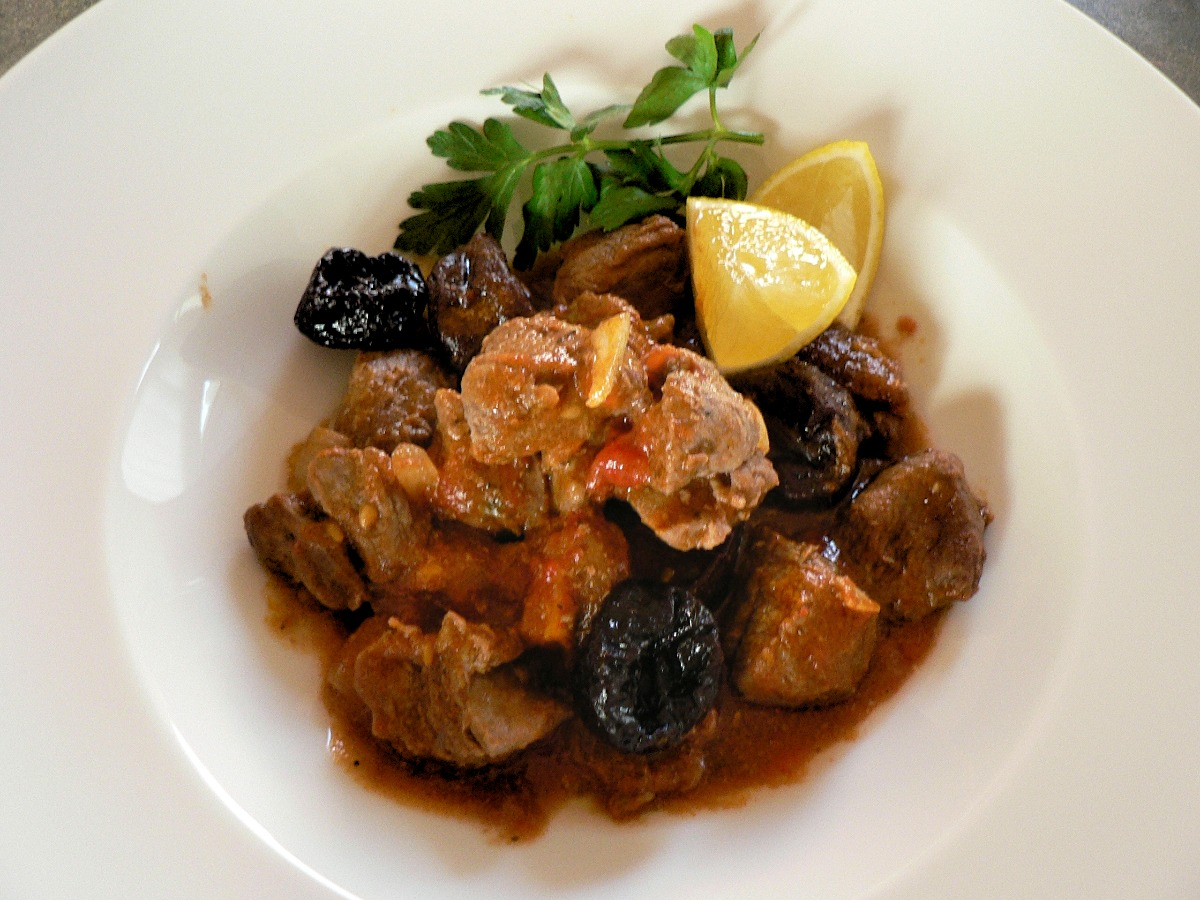 Moroccan Lamb Stew with Apricots and Prunes Recipe