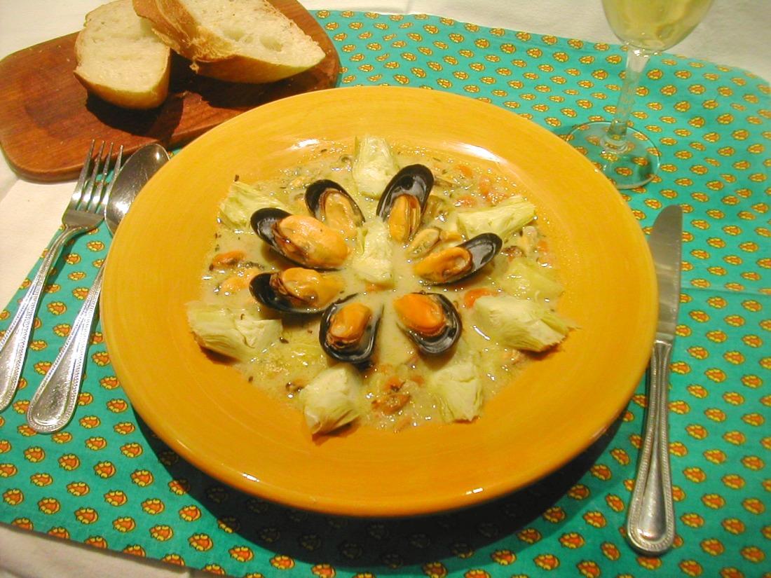 Mussels and Artichoke Chowder Recipe