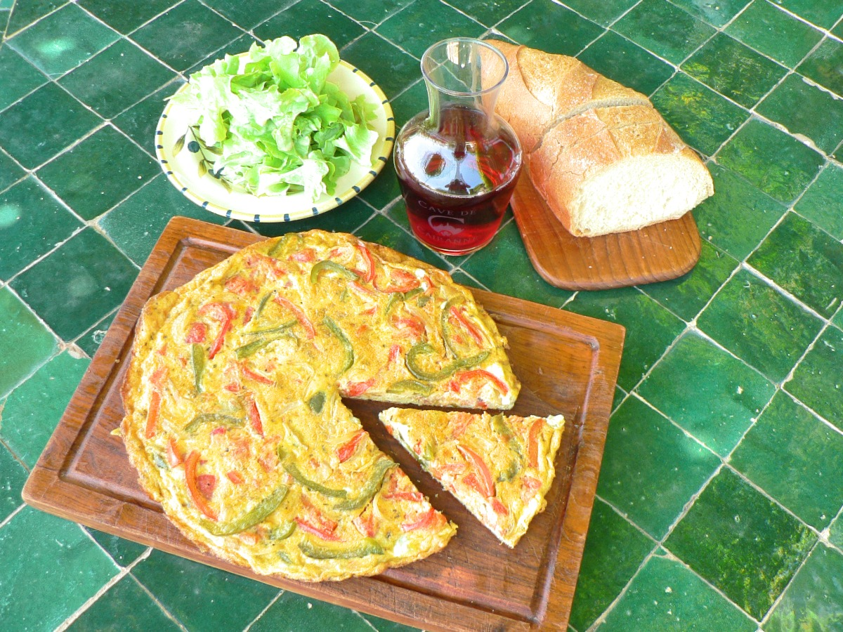 Omelet with Peppers and Tomatoes Recipe