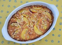 Peach and Almond Cobbler
