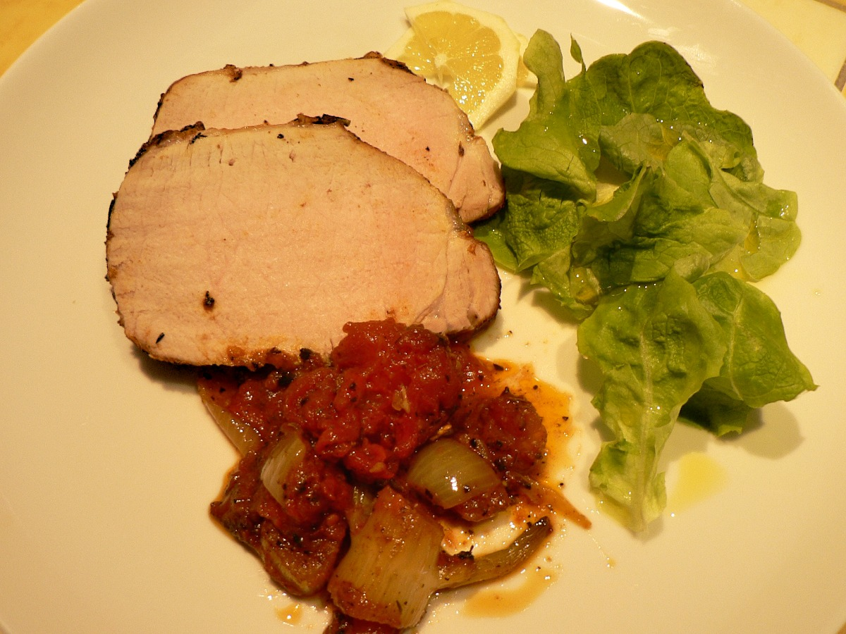 Pork Roast with Tomatoes and Fennel Recipe