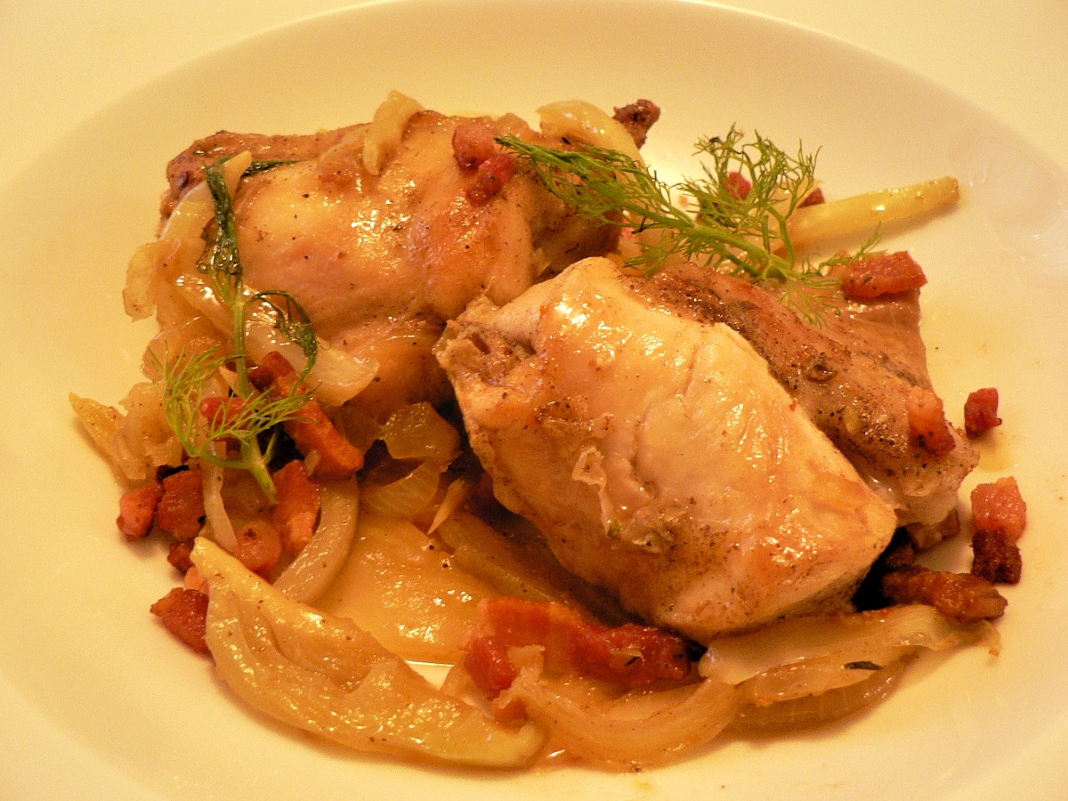 Rabbit with Fennel and Pancetta Recipe