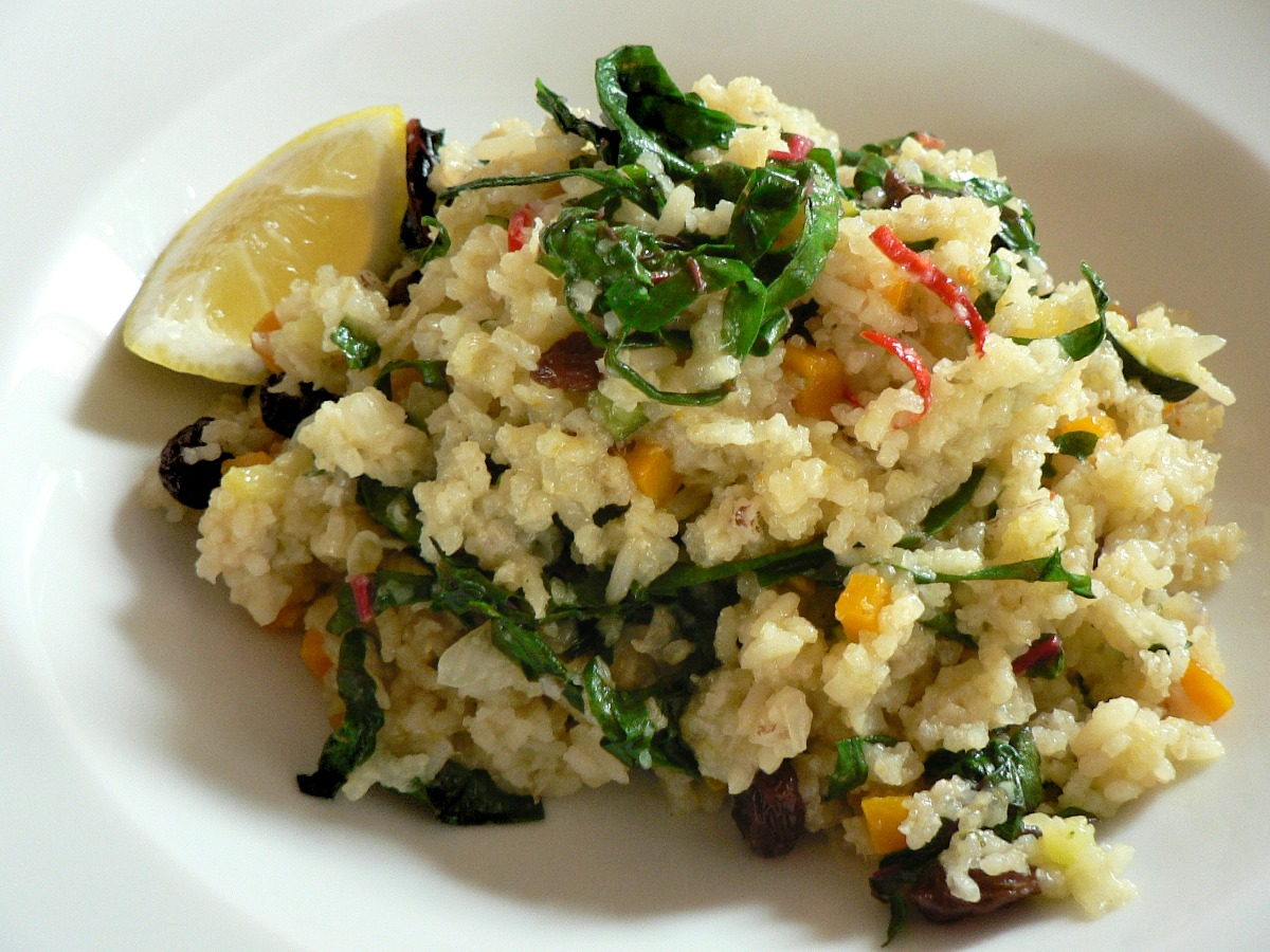Rice Pilaf with Swiss Chard Recipe