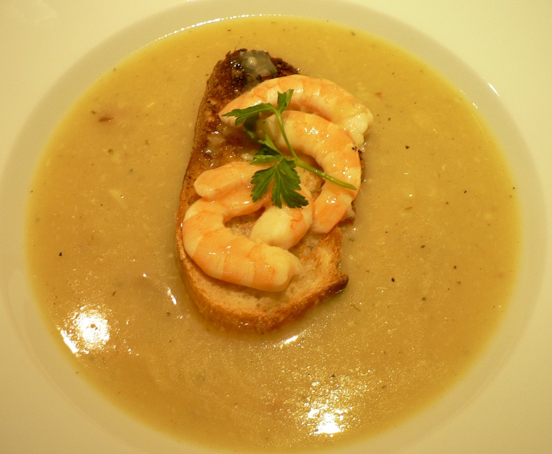 Roasted Garlic Soup with Shrimp Recipe