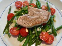Seared Tuna with Green Beans Tomato Vinaigrette