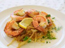 Shrimps with Caramelized Fennel and Raisin Couscous