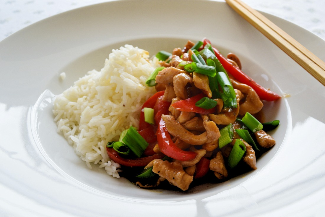 Spicy Chicken with Peppers and Cashew Nuts Recipe