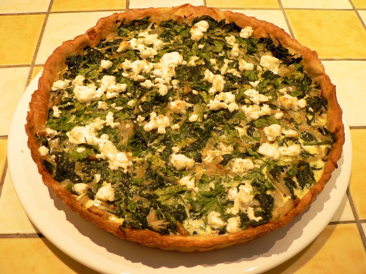Spinach and Feta Cheese Quiche Recipe