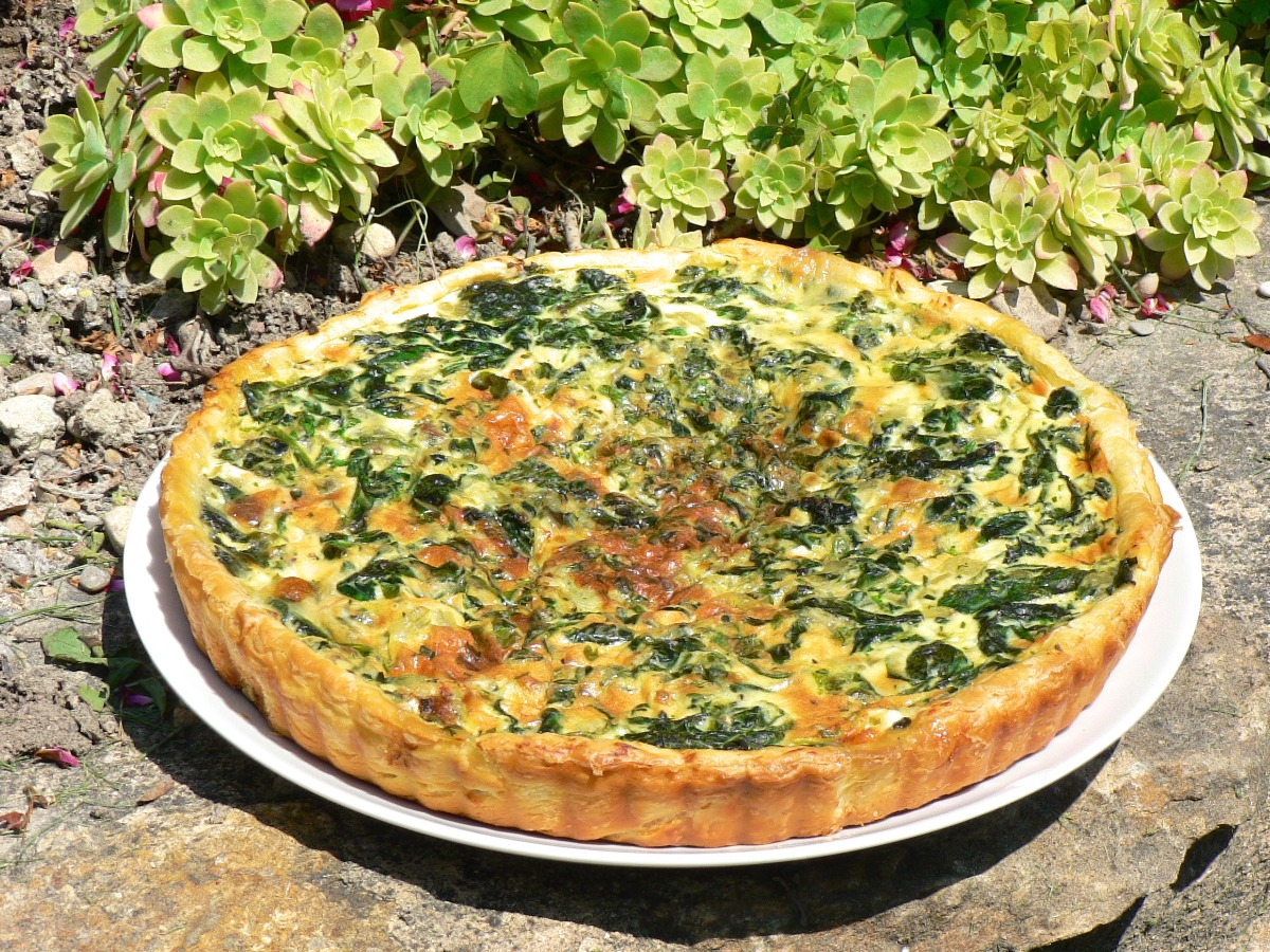Spinach and Goat Cheese Tart Recipe