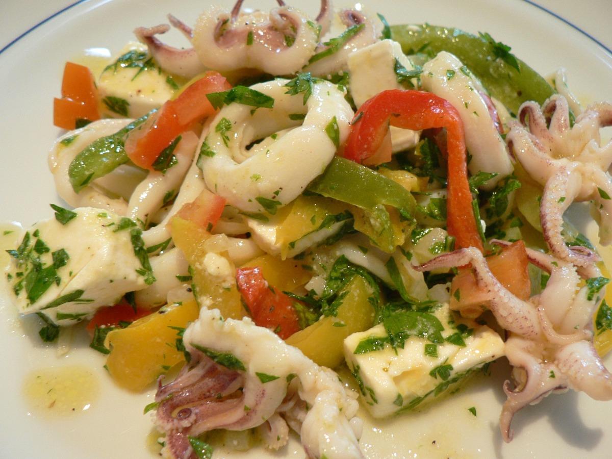 Squid Salad (Greek Calamari Salad) Recipe