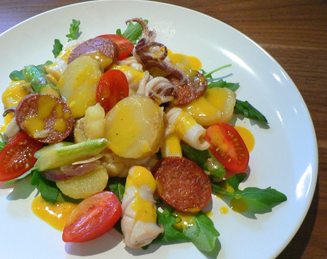 Squid and Potato Salad with Aïoli Recipe