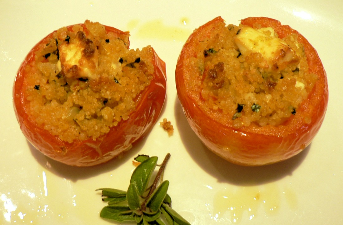 Tomatoes stuffed with Couscous and Feta Cheese Recipe