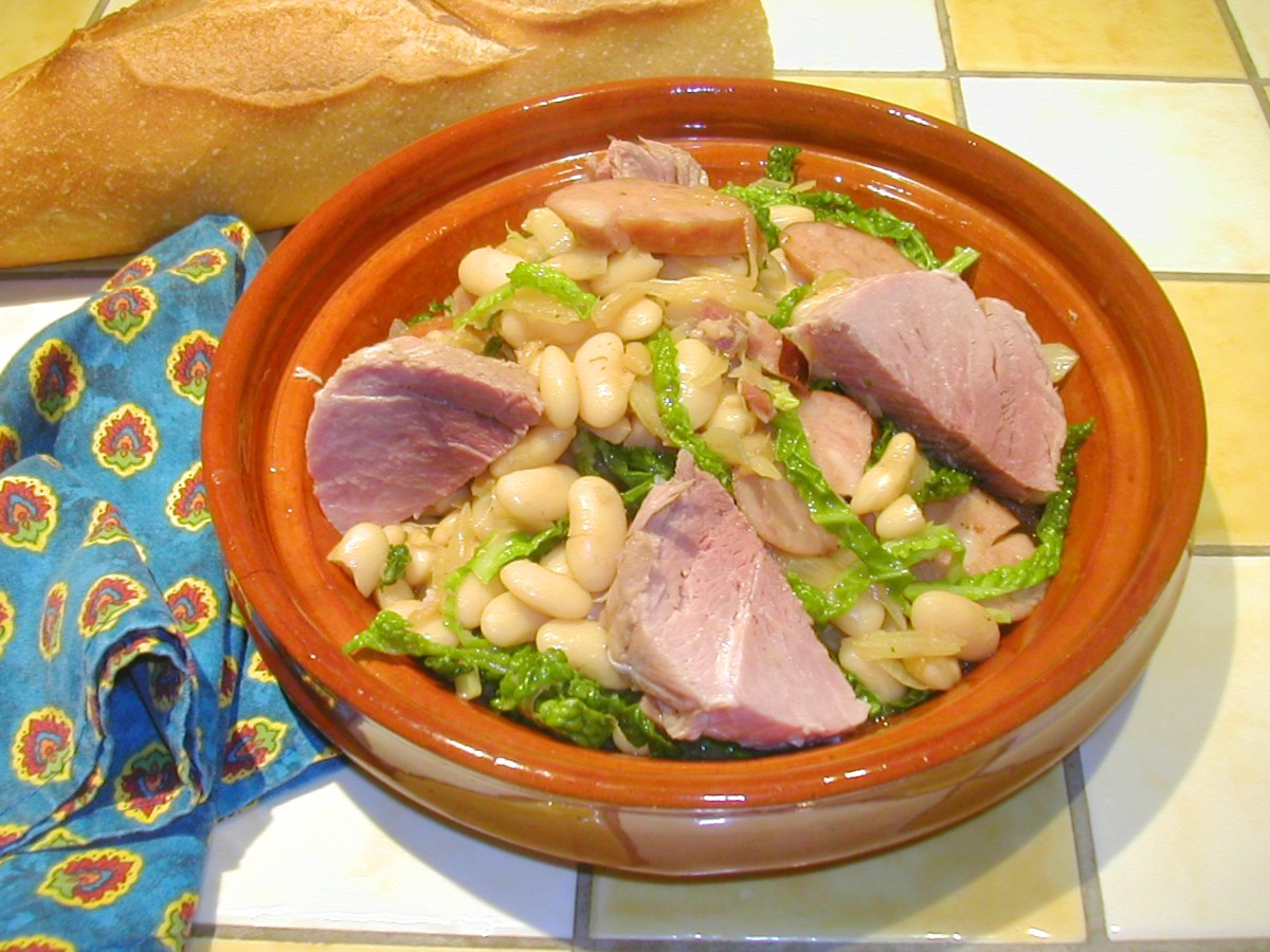 White Bean Stew with Cured Pork Loin Recipe