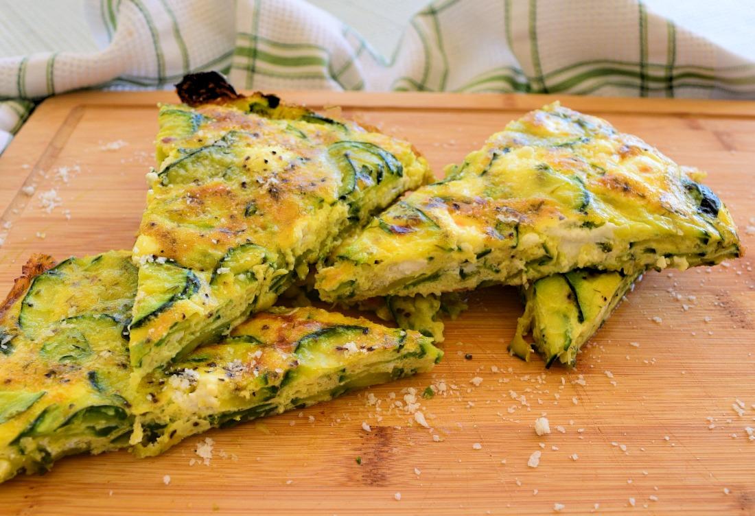 Zucchini Frittata with Goat Cheese Recipe