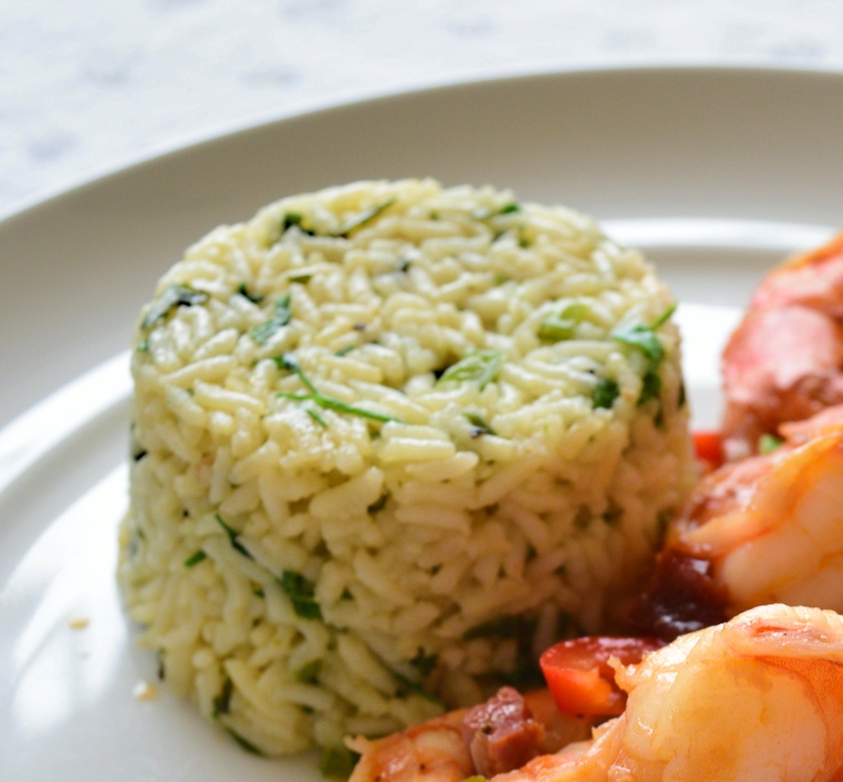 Rice with Cilantro and Scallions Recipe