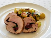 Spinach and Cranberry Stuffed Pork Tenderloin