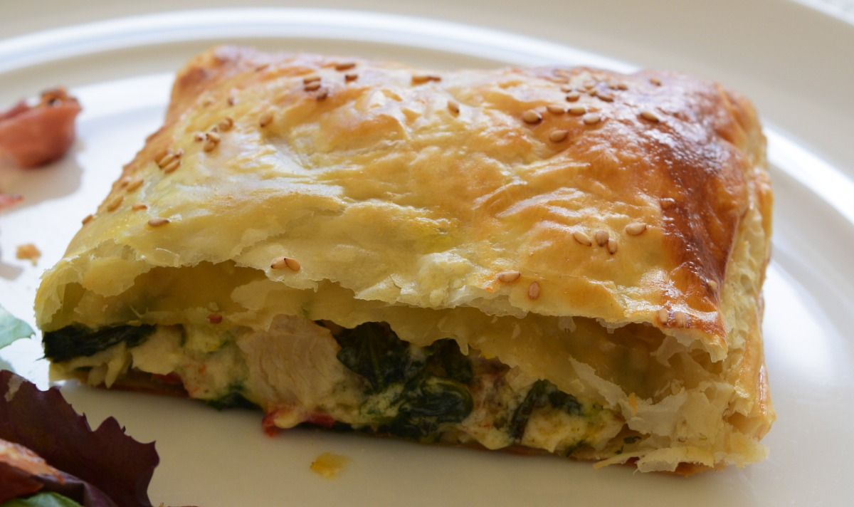 Turkey, Spinach and Roasted Red Pepper Parcels Recipe
