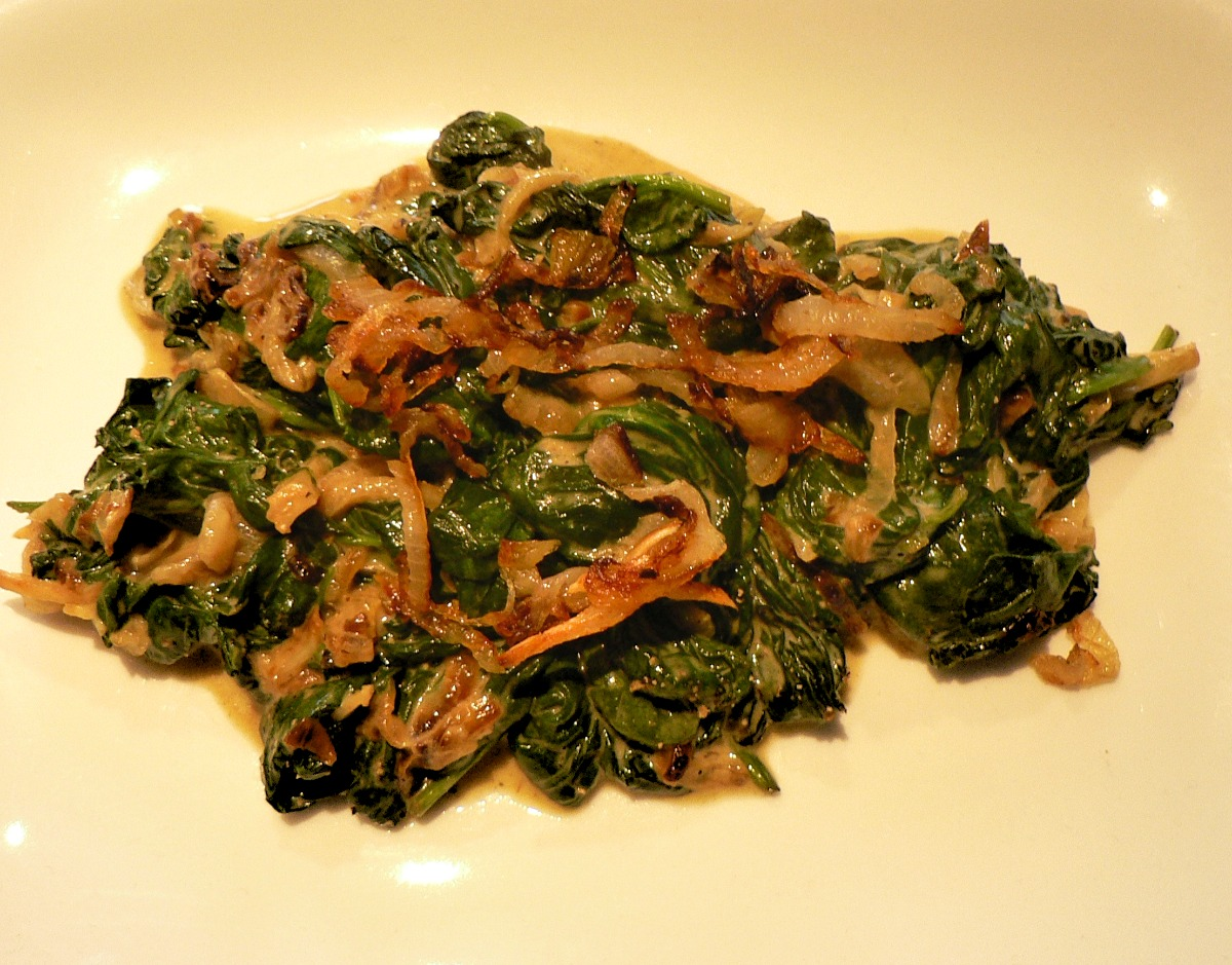 Spinach with Caramelized Onions Recipe