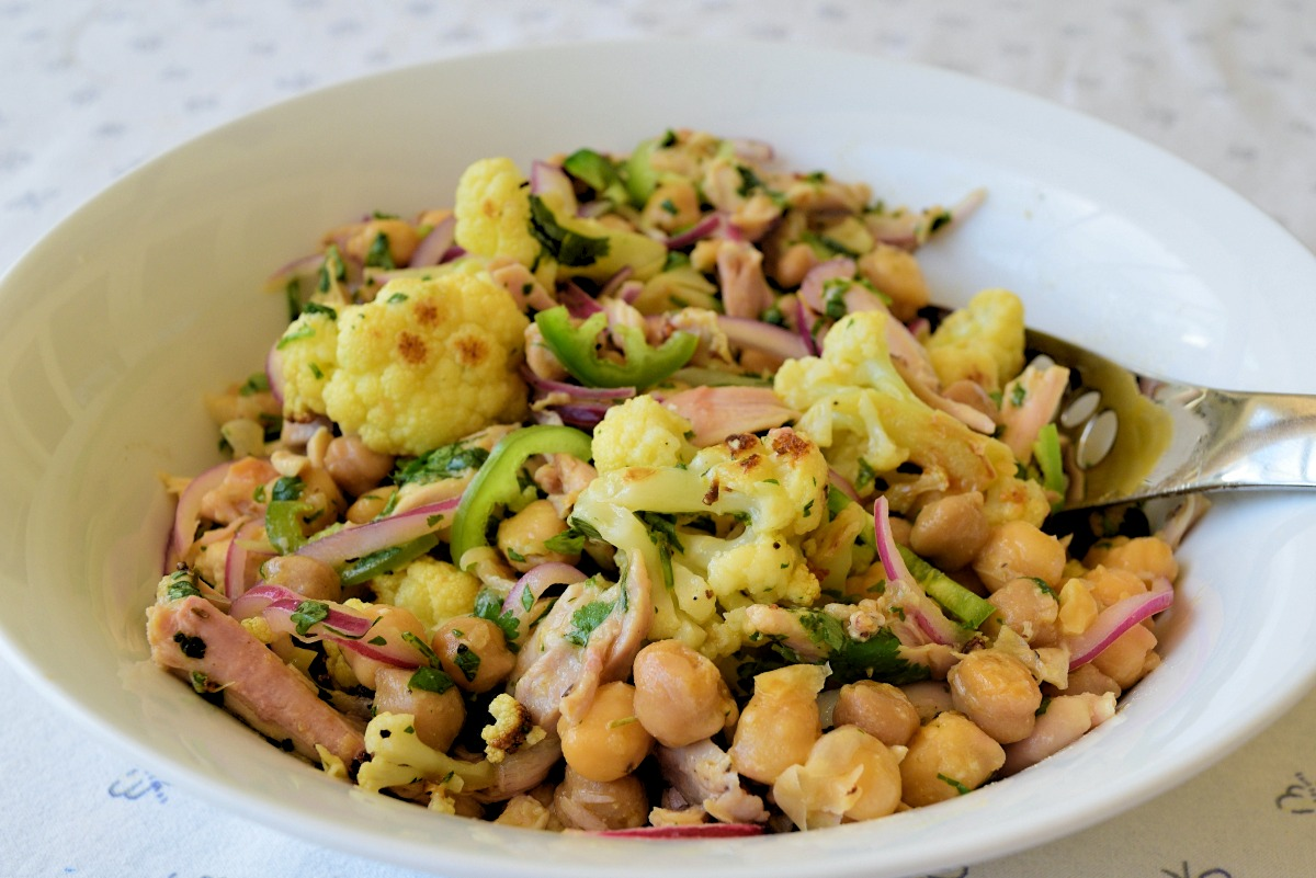 Roasted Chicken, Chickpea and Cauliflower Salad Recipe