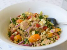 Spicy Quinoa Tuna and Roasted Broccoli Salad