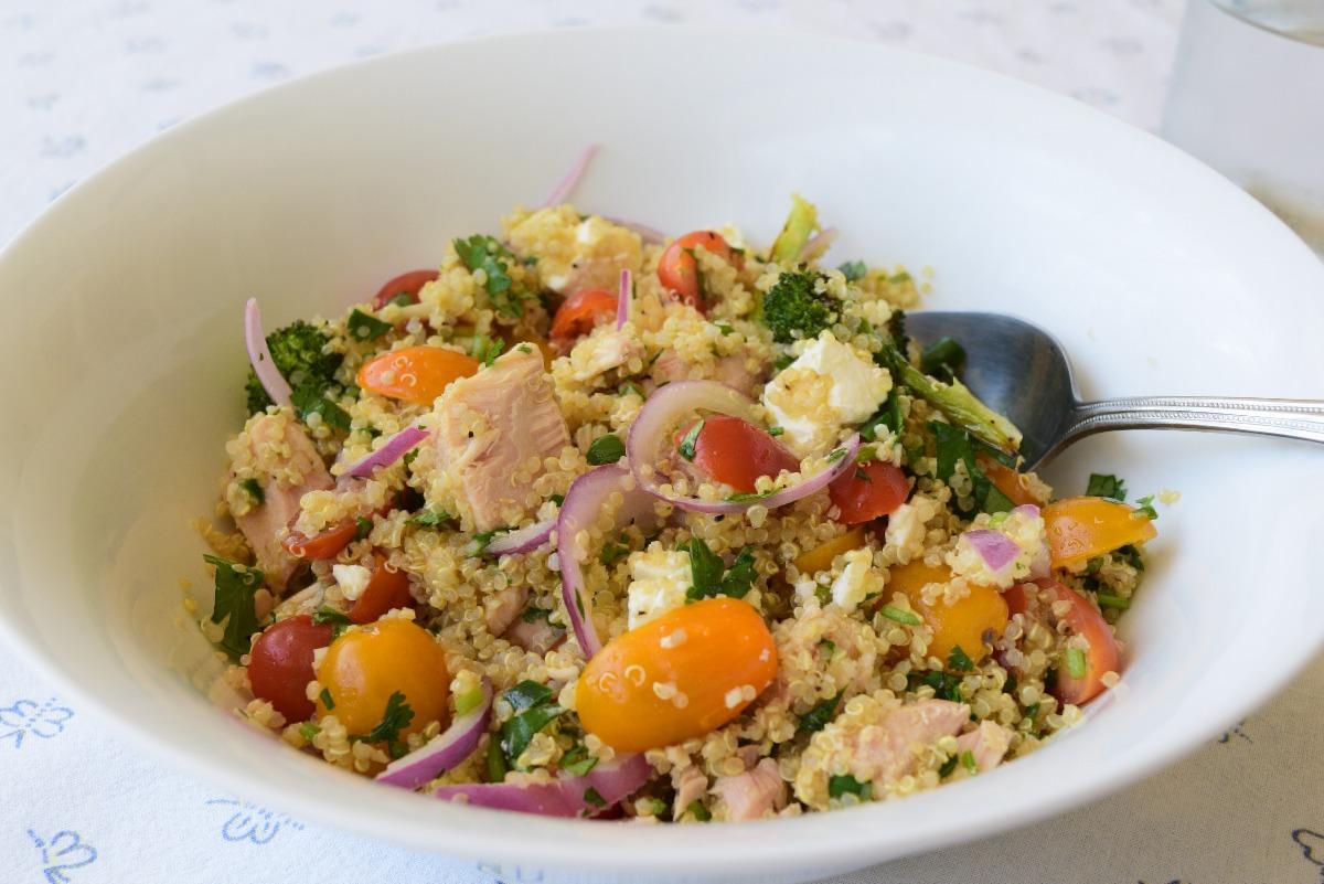 Spicy Quinoa, Tuna and Roasted Broccoli Salad Recipe