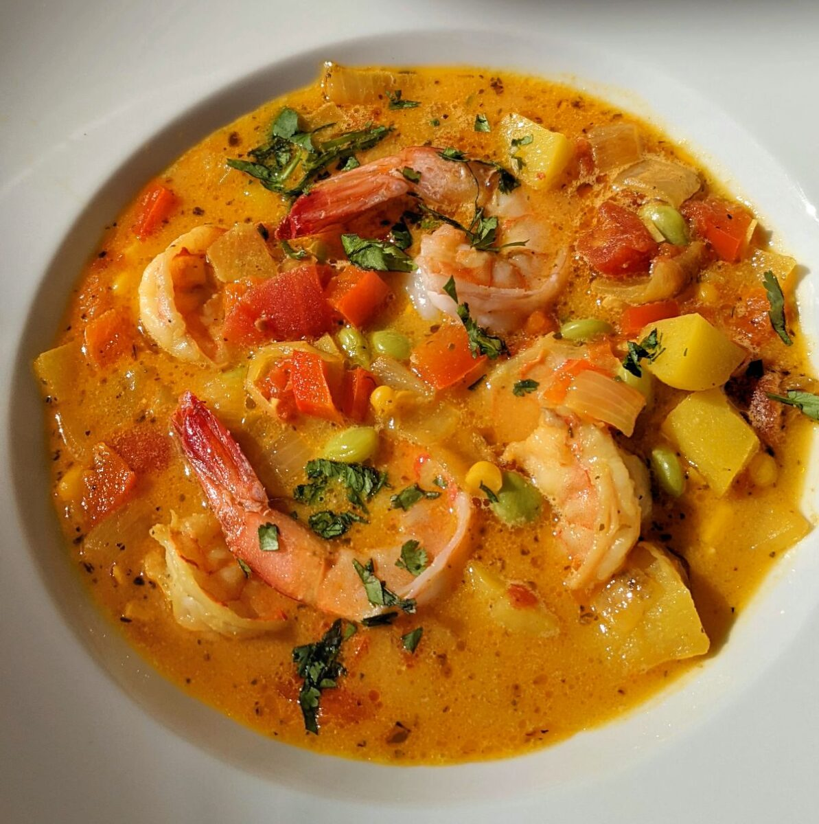 Peruvian Shrimp Chowder (Chupe de Camarones) Recipe