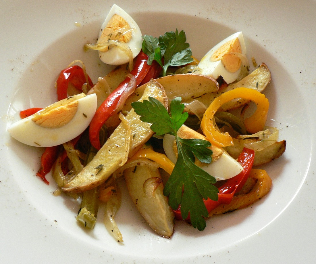 Roasted Potato and Bell Pepper Salad Recipe