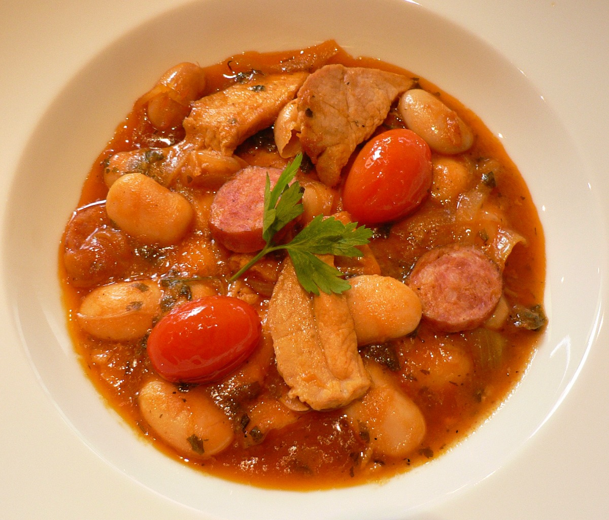 White Bean, Pork and Smoked Sausage Stew Recipe