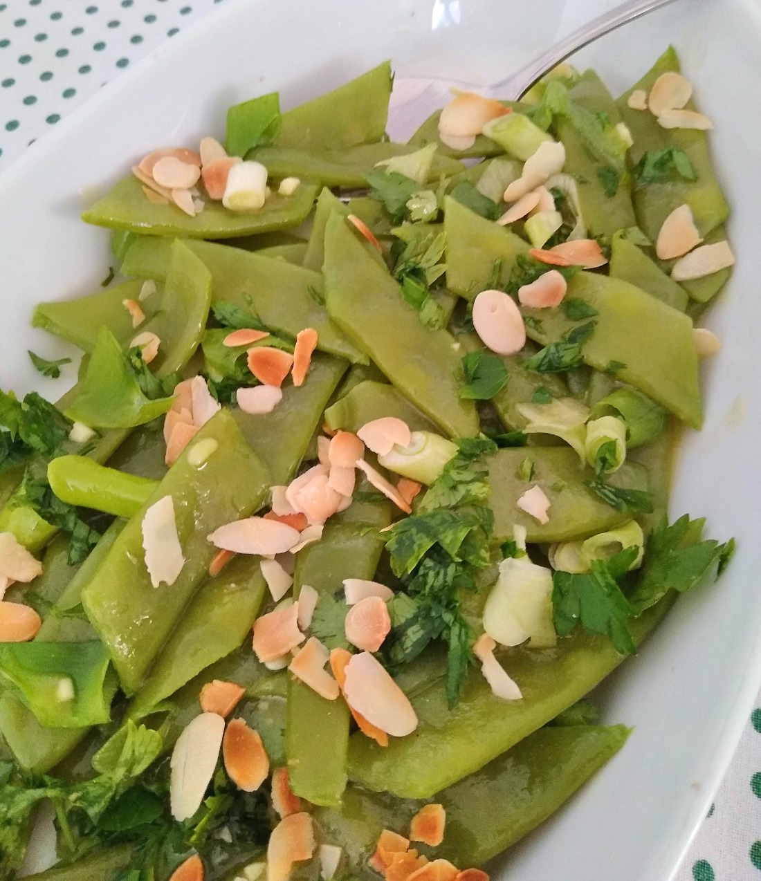Italian Flat Beans with Toasted Almonds Recipe