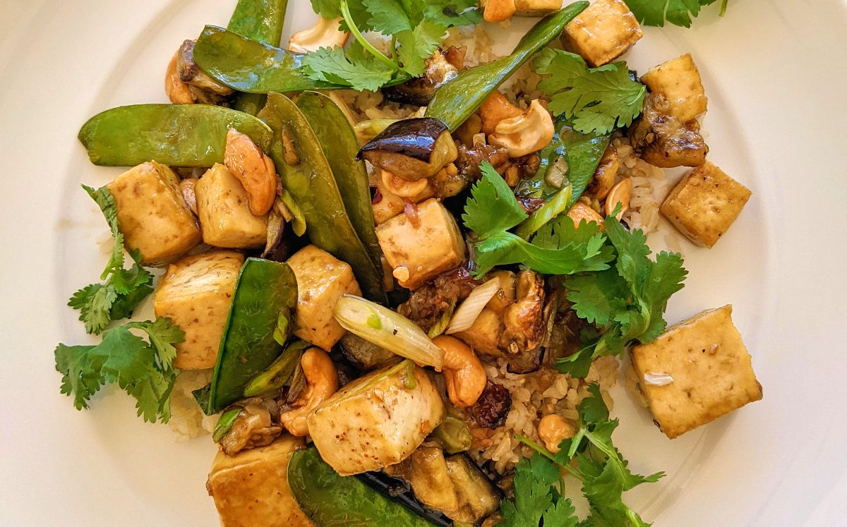 Eggplant and Crispy Tofu with Sweet and Sour Sauce Recipe