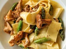 Pappardelle with Chanterelles and Asparagus